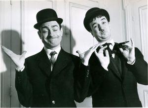 Pierre Etaix et Jean-Claude Carrière en Laurel et Hardy